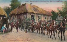 Munitionskolonne Soldaten Pferdegespanne AK WW I Russland 1711036