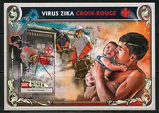NIGER 2016 ZIKA VIRUS RED CROSS SOUVENIR SHEET  MINT NH
