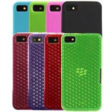 Housses et coques anti-chocs en cuir pour téléphone mobile et assistant personnel (PDA) Blackberry