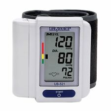 LifeSource A&D MEDICAL UB-521 DIGITAL WRIST BLOOD PRESSURE MONITOR 90 MEM RECALL