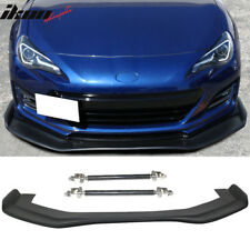 Universal Fitment RB Style 68x20inch PP Front Bumper Lip & CF Splitter Rod