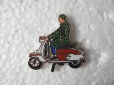 Scooter rider pin badge. Lapel. Brand new. Lambretta Vespa Mod scooterist
