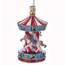 Carousel Nobel Gems Glass Ornament