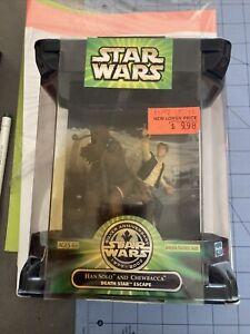 Star Wars silver anniversary Han Solo and Chewbacca Death Star Escape NEW