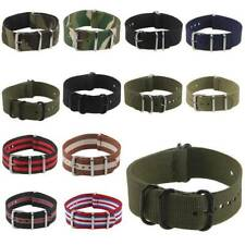 Infantry Military Army Fabric Buckle Nylon Wrist Watch Band Strap 18mm 20mm 22mm