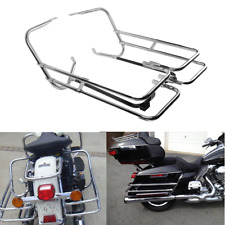 Rear Saddlebag Bag Guard Rail Mounts Bracket For Harley HD Road Glide FLTR 98-08
