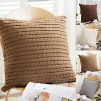 "18"" Square Knitted Crochet Throw Pillow Case Sofa Waist Cushion Cover Home Decor"