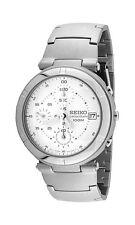 SEIKO Chronograph SND103 SND103P1 Men White Dial 100m Stainless Steel Watch