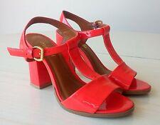 Chaussures Femme Sandales Talons Hauts Cuir Verni Rouge 36 MINELLI
