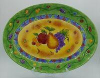 "Sango Sangria Platter 17 1/4"" By 12 1/2"""