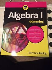 Algebra I for Dummies by Mary Jane Sterling (2016, Paperback)