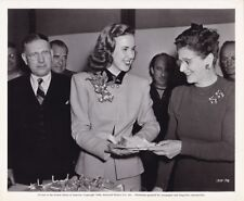 DEANNA DURBIN & Parents Original CANDID Birthday Vintage 1944 Universal Photo