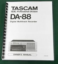 Tascam DA-88 Owners Manual: Comb Bound & Protective Covers!