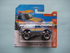 Diecast Hotwheels HW Hot Trucks 8/10 Chevy Blazer 4*4 Blue on Blister