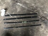 ROVER MG ZR CHROME SILL PLATES WITH SCREWS