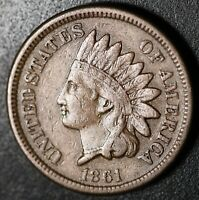 1861 INDIAN HEAD CENT - With LIBERTY - Near VF VERY FINE