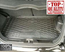 Car Boot Cargo Rubber Mat Trunk  Liner Tray for Fiat 500e ELECTRIC 2013- Black