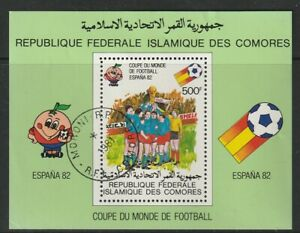 COMORES 20 FEBRUARY 1981 FOOTBALL WORLD CUP SPAIN 82 MINIATURE SHEET FINE USED