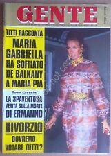 Rivista Magazine - Gente n° 19 1969 - Brigitte Bardot - Barnard - Gigi Rizzi