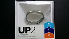 Jawbone UP2 Activity + Sleep & Food Tracker Wristband Fitness Band Light Gray