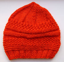 Hand-knitted Baby Hat - Cinnamon - 3-6 months