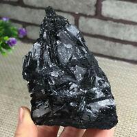 Natural Black Tourmaline Crystal Stone Gem Original Mineral Specimen 424g