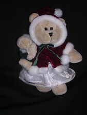 Starbucks Bearista Teddy Bear Winter Coat w Hood Fur Trim 2005 Mint With Tags