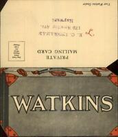Watkins Remedies Medicine Salesman Mail Order Postcard Suitcase Fold Open PC