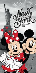 Disney´s Minnie & Mickey Mouse in New York Badetuch 70x140 Handtuch Strandlaken