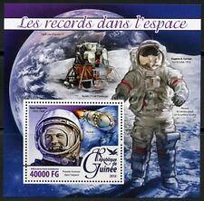 GUINEA 2016 RECORDS IN SPACE GAGARIN CERNAN  APOLLO 17  MOON LANDER S/S  MINT NH