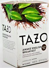 Tazo Awake English Breakfast 20 Tea Filter Bags ~ Box is BEAT UP L12