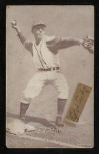 Eddie Stanky Exhibit SIGNED Baseball Card Autographed Blank Back Signature