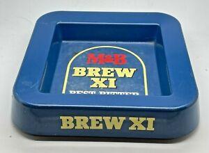 M & B BREW XI PLASTIC / MELAMINE ASHTRAY ASH TRAY PUB BAR HOME BEER BITTER ALE