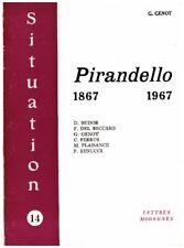 GENOT G. - PIRANDELLO 1867-1967 - 1968
