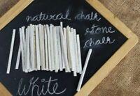 Natural White Slate Pencils Pack of 100 Pcs Barta Crunchy Earthy Edible