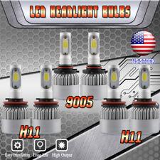 9005+H11 Combo LED Headlight + H11 Fog Lights for Jeep Grand Cherokee 2014-2017