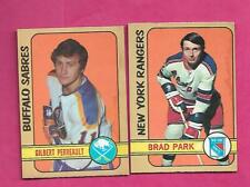 1972-73 OPC RANGERS BRAD PARK + SABRES GILBERT PERREAULT  CARD (INV# C5786)