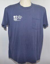 Vtg Jerzees Blue Tshirt The Beach Club St Augustine Beach Fl Mens L Usa Made