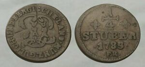 ☆ AUTHENTIC !! ☆ 1785 Colonial Era Copper Coin !! ☆ Nice Detail !!