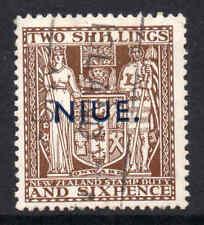 Niue 1941 KGVI 2/6d Postal Fiscal wmk single NZ star w43 SG 79 used CV £120.