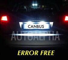 AUDI A3 S3 A4 A6 LED XENON ICE WHITE NUMBERPLATE LIGHT BULBS CANBUS ERROR FREE