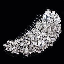 Retro Teardrop Hair Comb Bridal Wedding Accessory Headpieces Rose Flower
