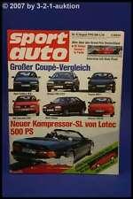 Sport Auto 8/90 500 SL Lotec Audi Coupe Toyota MR 2
