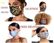 Cotton Face Mask, Reusable,Washable, Protective,Fashion Designs, UNISEX,Adult UK