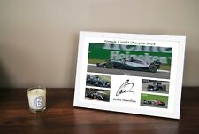 Lewis Hamilton 2018 2017 2015 2014 2008 F1 World Champion Framed Christmas Gift
