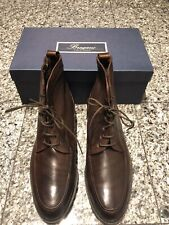 Bragano by Cole Haan Bartono Brown Leather Lace Up Men's Boots