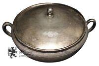 Meriden Britannia Co 1869 Antique Victorian Quadruple Plate 3 Piece Dish Bowl