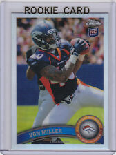 VON MILLER RC Topps Chrome REFRACTOR $$ ROOKIE CARD Football 2011 DENVER BRONCOS