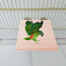 Pet Bird Parrot Chew Toy Wood Hanging Swing Cages Parakeet Stand PlatfoTb