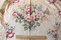 """Pretty Vintage Pink Rose Cotton Home Dec Fabric c1940-1950~L-30"""" X W-33"""""""